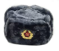 Hat Russian Soviet Army Air force Fur Military Ushanka * GR * Size L