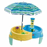 Geniusly Step 2 Shady Oasis Sand and Water Table - Cleva Edition ChildSAFE Door Stopz Bundle