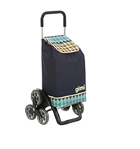 Gimi Tris Optical Carrello Portaspesa, Blu
