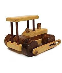 Desi Karigar Beautiful Wooden Classical Army Tank Toy Showpiece