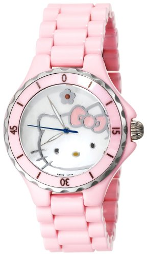 Hello Kitty Women's QWL1200PNK Kimora Lee Simmons Pink Ceramic Watch