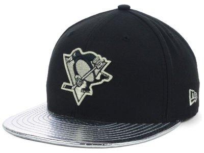 NewEra ニューエラ Pittsburgh Penguins NHL Metallic Slither 59FIFTY Cap Black/DarkGray ブラック/DarkGray/ベースボールキャップ/キャップ/野球帽