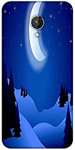 Snoogg Bright Night Designer Protective Back Case Cover For Micromax Canvas Spark Q380