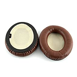 Bose QC2, QC15, AE2, AE2i, AE2w, QuietComfort Headphone Replacement Ear Pad / Ear Cushion / Ear Cups / Ear Cover / Earpads Repair Parts (Coffee / Brown)