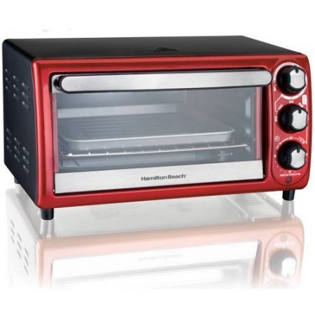 Hamilton Beach 4-Slice Toaster Oven, Red (Kenmore Toaster Oven Parts compare prices)