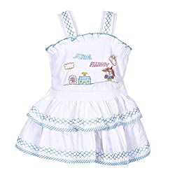 ahhaaaa's Cotton 2 Piece Frocks for Girls (6-12 Months)