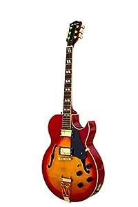 Glen Burton Chicago Jazz Hollow Body Electric Guitar - Cherry Sunburst