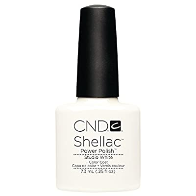 Creative Nail Shellac, Studio White, 0.25 Fluid Ounce