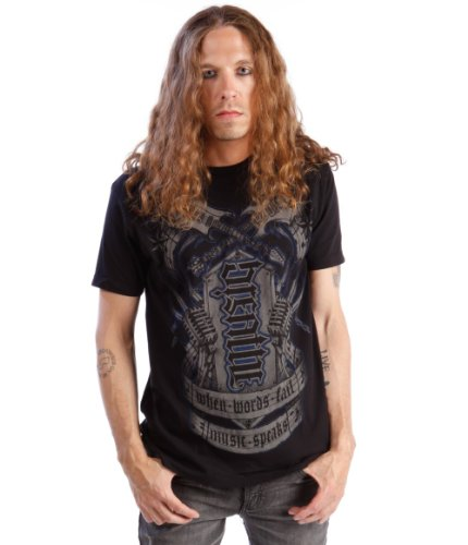 Red Chapter Mens Breathe Music Ambigram Shirt Black Size: Medium