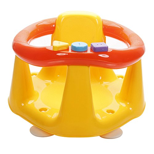Baby Kids Tub Bathroom Safety Seat Bath Ring Seat Anti Slip Seat Safety Chair with Foot Suckers Yellow