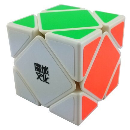 Oosti New YJ MoYu Skewb Speed Magic Cube Puzzle White Cube puzzle toy - 1