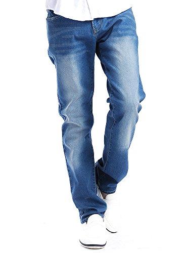 ブルー XL (ベストマート)BestMart ストレッチ デニムパンツ メンズ ジーンズ ジーパン ストレート カジュアル ヴィンテージ 603137-007-617