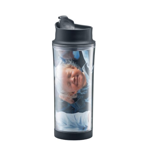 Bodum 16-Ounce Picture Travel Tumbler/Mug with Picture Insert and Spill Resistant Lid