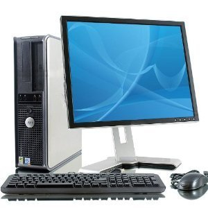 Dell 780 Optiplex Sff With 19 Inch Dell Lcd ,Wifi Intel Core 2 Duo 3.16Ghz, 500 Hdd 4Gb Dvd/Cd Rw, Dual Monitor Hook Up Capable Windows 7 Professional 64 Bit With Restore Cd front-553238