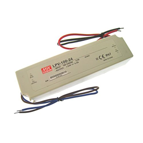 Mw Mean Well Lpv-100-24 Led Driver 100.8W 24V Ip67 Power Supply Waterproof