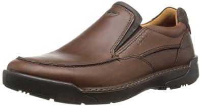 ECCO Men's Dason Toe Slip-On,Bison/Coffee,43 EU/9-9.5 M US