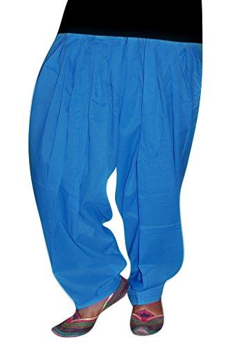 Bansal Collection Women's Patialas (Blue_Free Size)