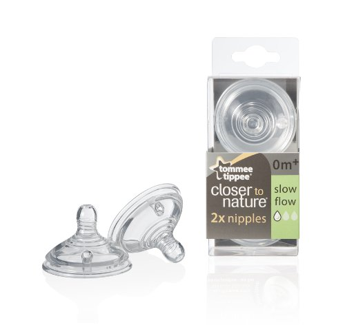 Great Deal! Tommee Tippee Nipples, Slow Flow, 2-Count
