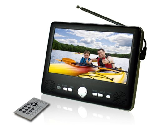 Axion AXN-8701 7-Inch Widescreen Portable Handheld TV with Built-In Tuner (Black):   Birthday LCD