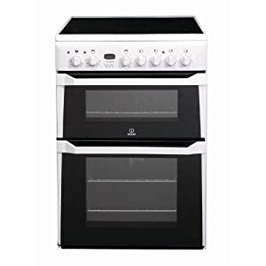 Indesit ID60C2W Freestanding Electric Cooker in White, 'B/B' energy efficiency rating - 60cm wide by Indesit