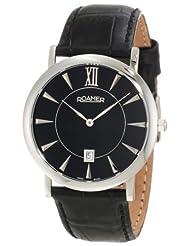 Roamer of Switzerland Men's 934856 41 55 09 Limelight Black Dial Leather Date Watch