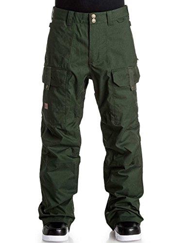 Pantaloni Pantaloni da snowboard DC Code, Verde combo, XS