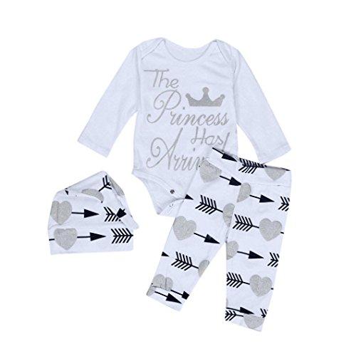 Ecosin Baby Kid Boy Girl Infant Romper Arrow Jumpsuit Bodysuit Clothes Outfit Set (6Months, White)