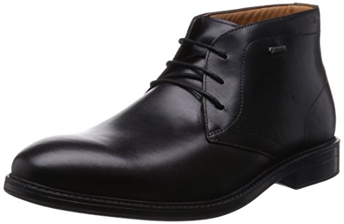 Clarks Chilver Hi GTX - Stivaletti Uomo, Nero (Black Leather), 42.5 EU