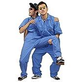 L: M/blue★ DICKIES ディッキーズ   3399-1 半袖カバーオール つなぎ  ミディアム・ブルー [並行輸入品]
