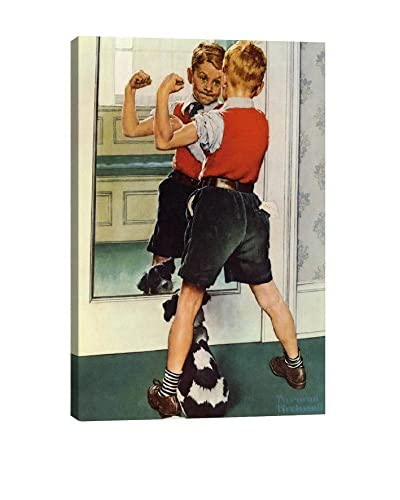 Norman Rockwell The Muscleman Close-Up Giclée Print