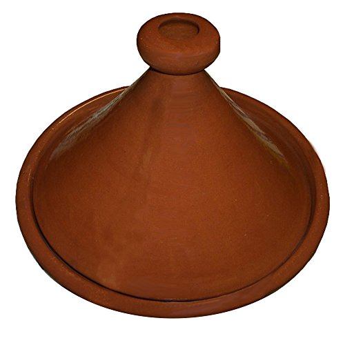 Moroccan Handmade Lead Free Safe Cooking Tagine Glazed Medium 10 inches Across Traditional