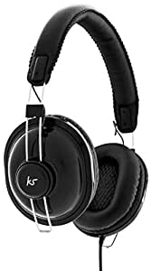 KitSound Levellers Sound Limiting Headphones Suitable for Kids Compatible with Smartphones, Tablets and MP3 Devices Including iPhone 4/4S/5/5S/5C/6/6 Plus, iPad 2/3/4/Air/Mini, iPod Nano 7th Generation, iPod Touch 5th Generation, Samsung Galaxy S2/S3/S4/S5, Galaxy Note 2/3, Galaxy Tab 2/3/4, Amazon Fire Phone, Xperia Z1/Z2, HTC One/One M8 and Google Nexus 5/7/10 - Black