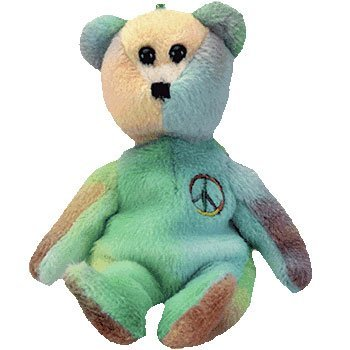 Ty Jingle Beanies - Peace the Tie-Dyed Bear - 1