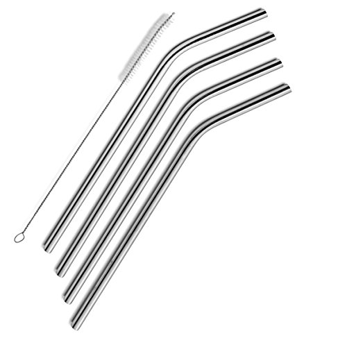 SipWell Stainless Steel Drinking Straws, Set of 4-- Free Cleaning Brush Included--NOW ON SALE!!!--