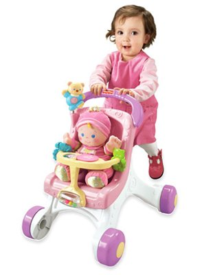 Fisher Price Stroll Along Walker - Pink [Baby