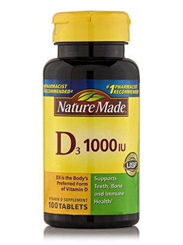 Nature Made Vitamin D3 1000 Iu, 100 Tablets