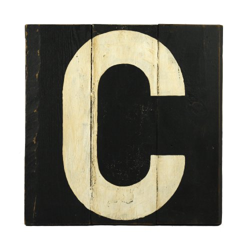 ZENTIQUE Wooden Letter, Monogrammed C