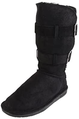 BEARPAW Women's Taylor Boot,Black,7 M US