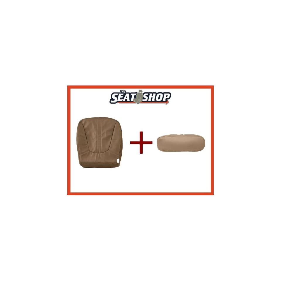 97 98 99 Ford Expedition Prairie Tan Leather Seat Cover bottom & arm rest LH