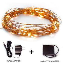 Amazon.com : Fairy Star String Lights - 39ft Extra Long Warm White LED Copper Wire Indoor ...