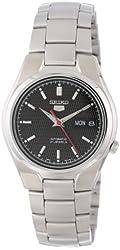 Seiko Men's SNK607 Seiko 5 Automatic Black Dial Stainless-Steel Bracelet Watch