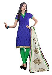 Radhika Shopping Women's Cotton Unstitched Dress Material (lucky-001_Purple_Free Size)