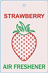 Edelcrafts Car Home Office Paper Hanging Strawberry Air Freshener (Pack of 2) - FREE SHIPPING