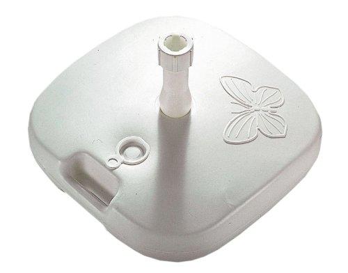 Enne Palstica 10000 Schirmständer Papillon, 20 Liter für Schirmstöcke, ø: 18-32 mm, Polyethylen weiß
