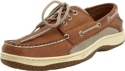 Sperry Top-Sider Mens Billfish 3-Eye Boat Shoe Dark Tan Size 10.5