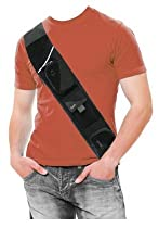 Crosspaq Black - Old Model - Newer Model Available - Forget Your Pockets on the Go! CrossBody Bag