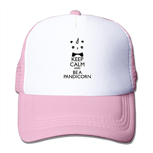 Fitty Area Keep Calm And be a Panda Unicorn Fashion HipHop Cap One Size Black, Pink, Taglia unica