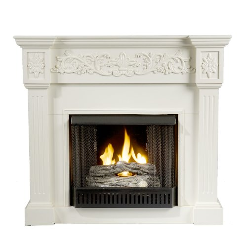 SEI Calvert Gel Fuel Fireplace, Ivory photo B00440CRHG.jpg