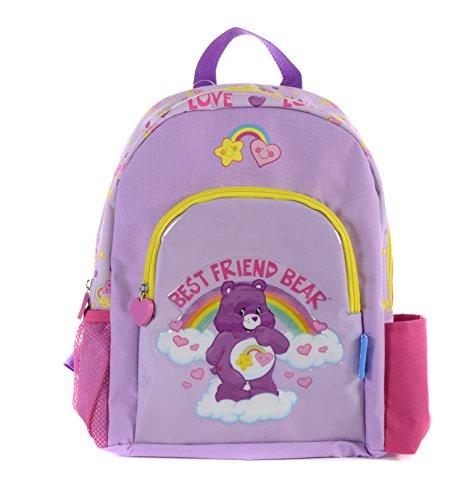 Care Bears - Zainetto per bambini degli orsetti del cuore, 33 cm, 5 L, Viola