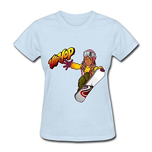 Lady Hip Hop Shirt Color Skyblue
